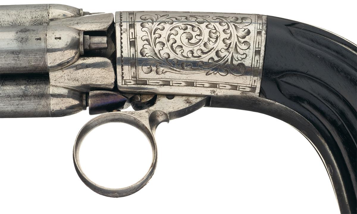 Капсюльный четырехствольный пистолет Мариэтта (кликните по изображению, чтобы увидеть фото полного размера)