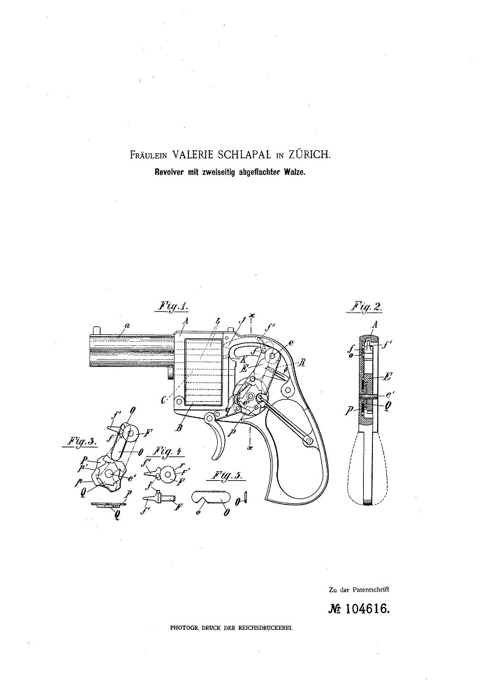 Патент на револьвер.