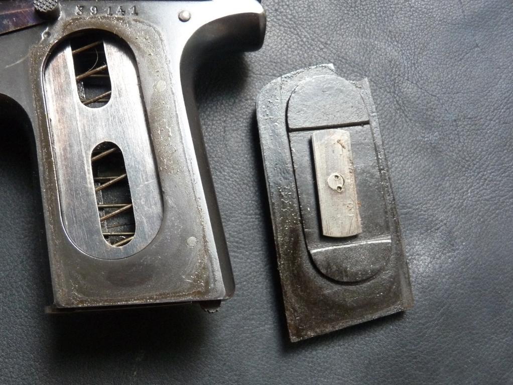 Sauer & Sohn Модели 1913, 1919, 1926 крепление щечек рукоятки