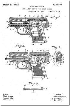 Схема устройства пистолета