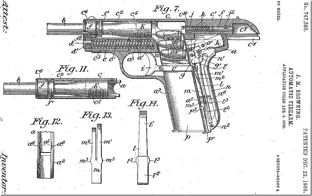 Браунинг 1903 патент