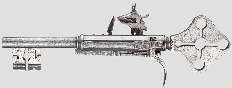 Пистолет-ключ с кремневым ударным замком