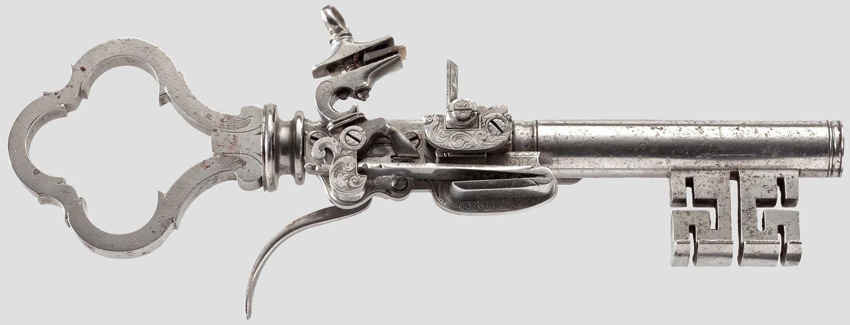 Ключ-пистолет с кремневым замком