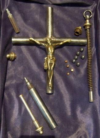 Крест-пистолет в разобранном виде