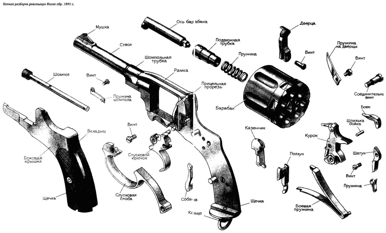 Чертёж револьвер своими руками