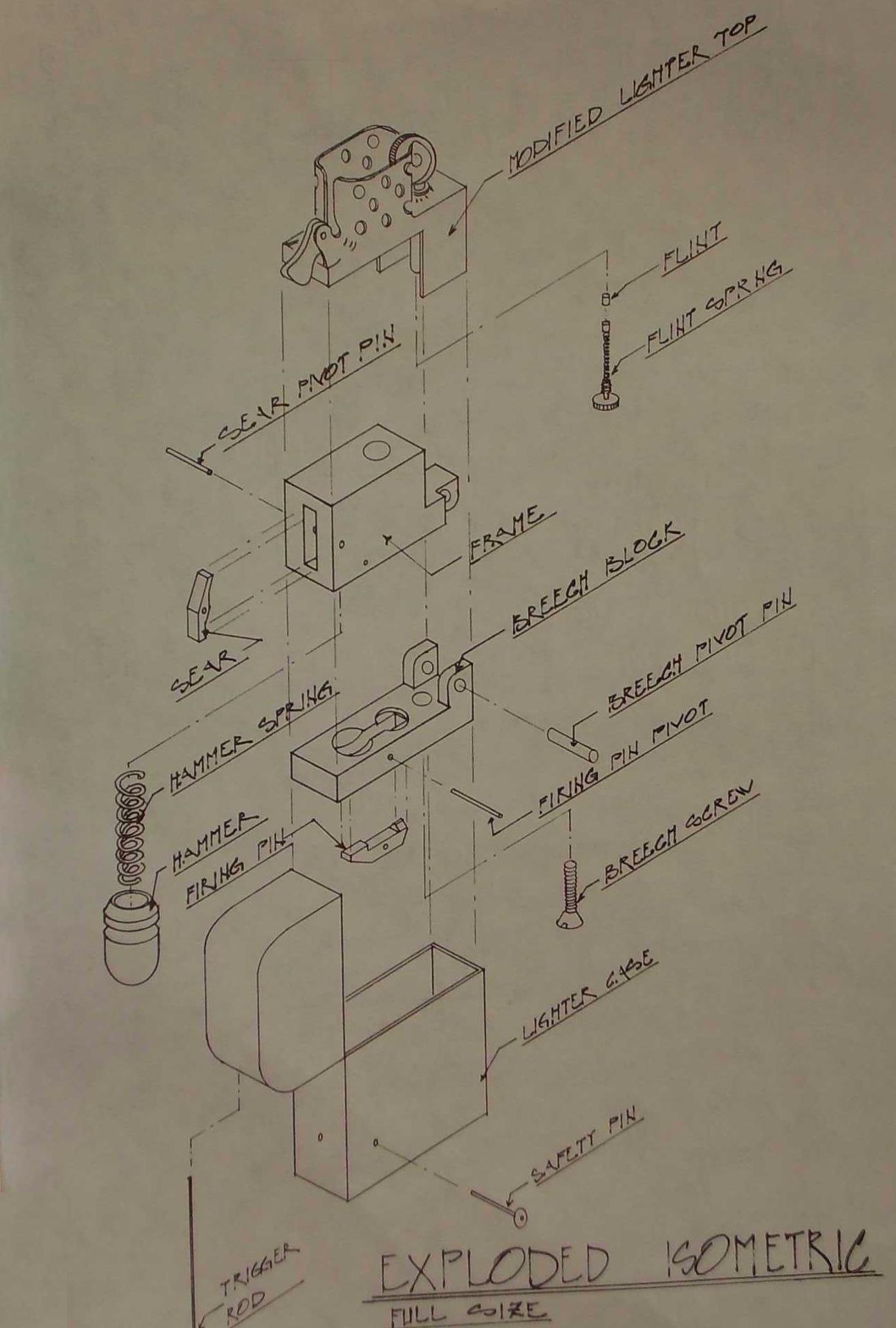 схема пистолета зажигалки