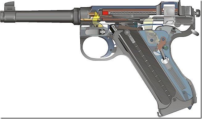 Схема пистолета Лахти