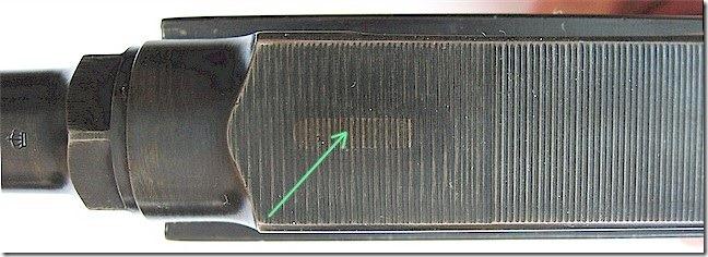 Ствольная коробка с удаленным индикатором наличия патрона в патроннике
