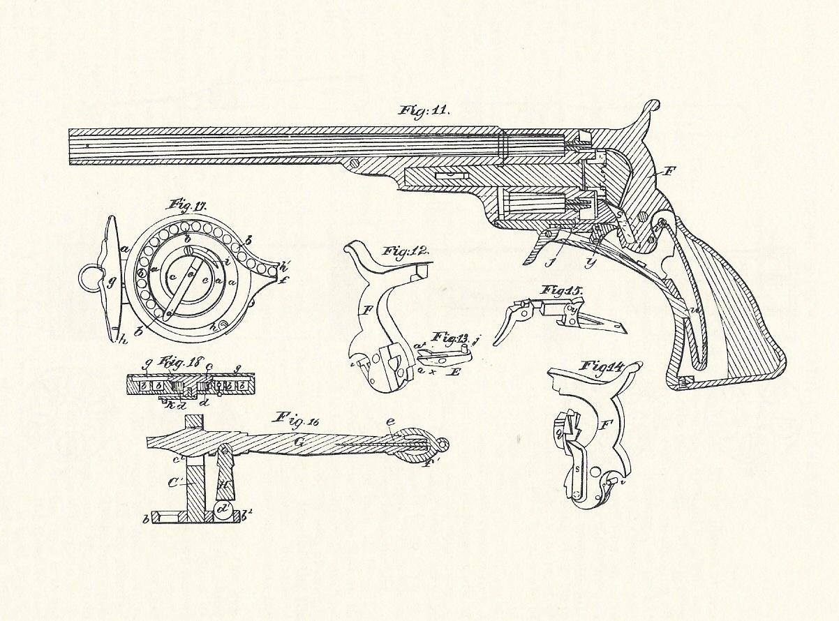 Схема пистолета кольт