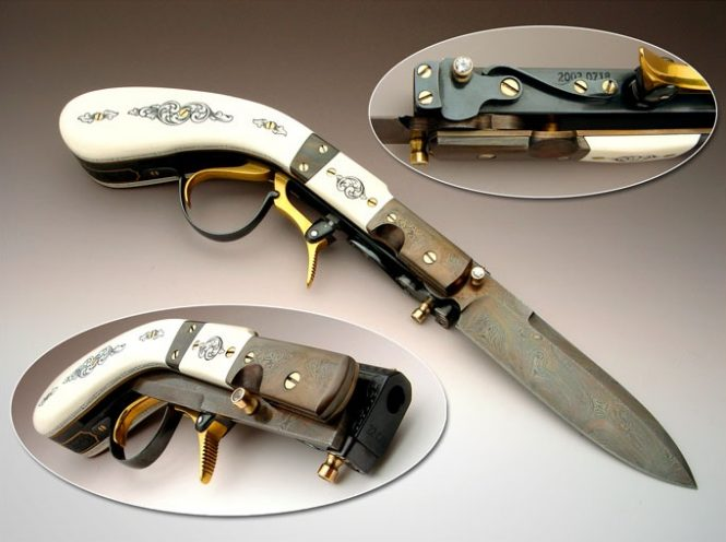 Knife Pistol Underhammer