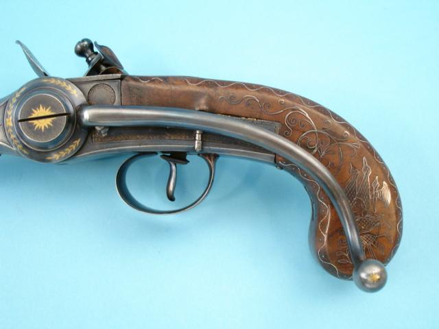 Lorenzoni Repeating Flintlock Pistol