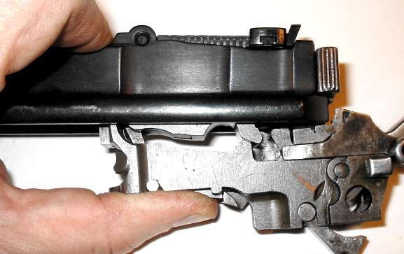 Assembly of the pistol Mauser C96