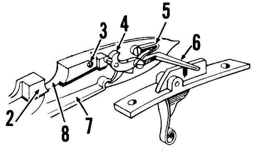 Спусковой механизм кремневого замка