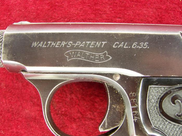 Walther Model 5 Second Variant