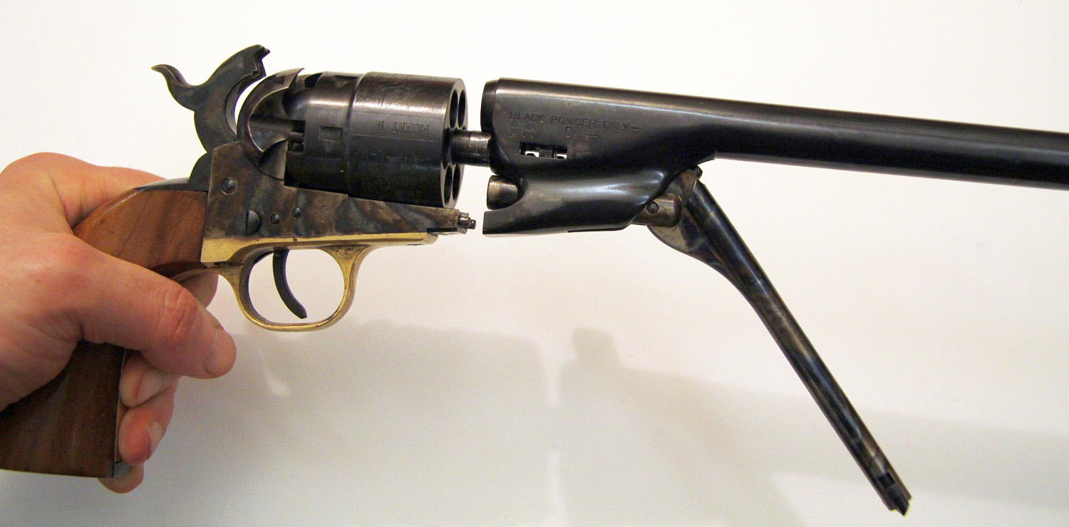 Colt Army 1860 disassembly
