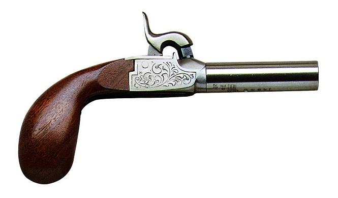 Derringer Liegi Deluxe boxlock percussion pistol