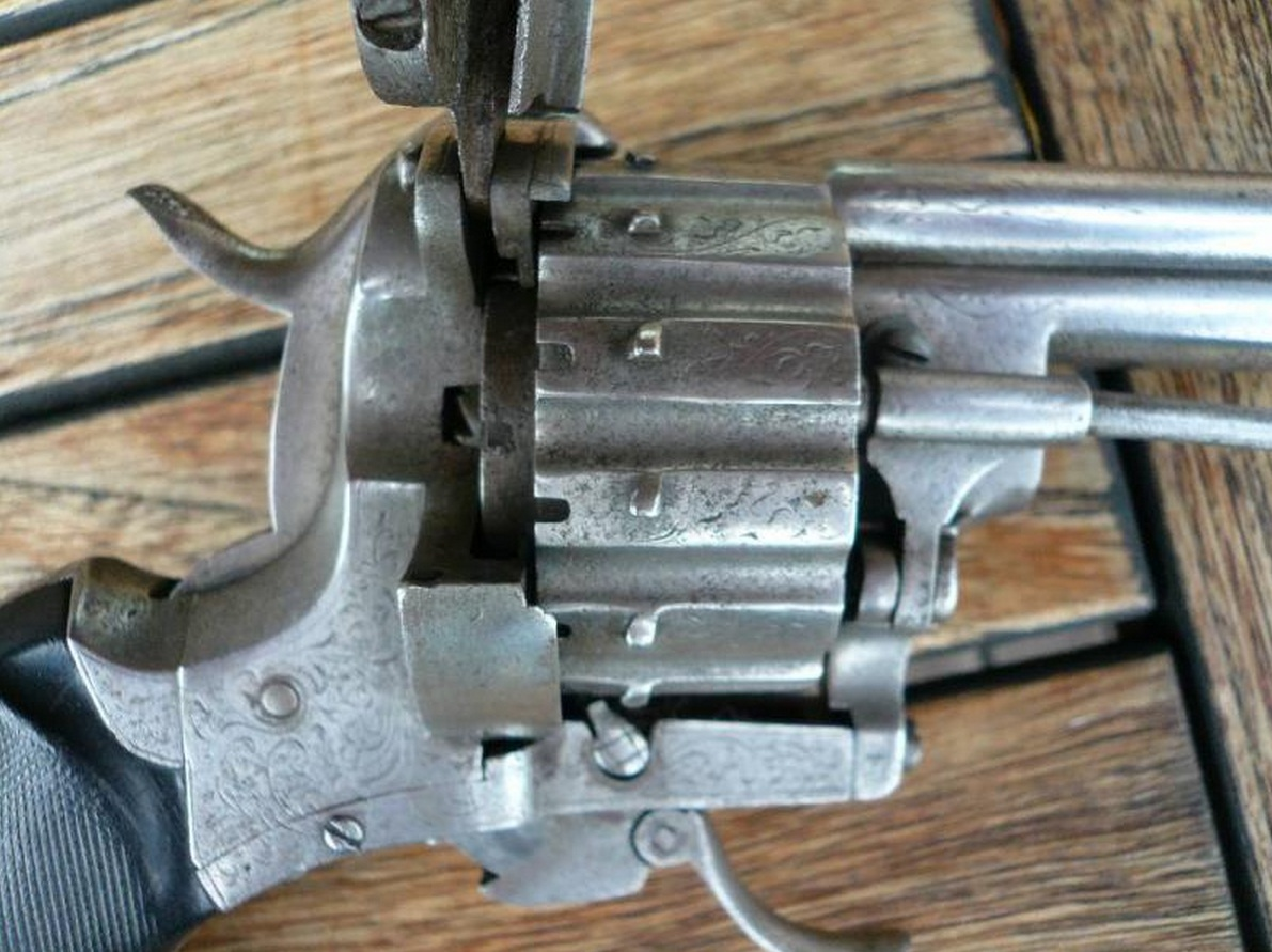 Two Barrel Pinfire Revolver Lefaucheux