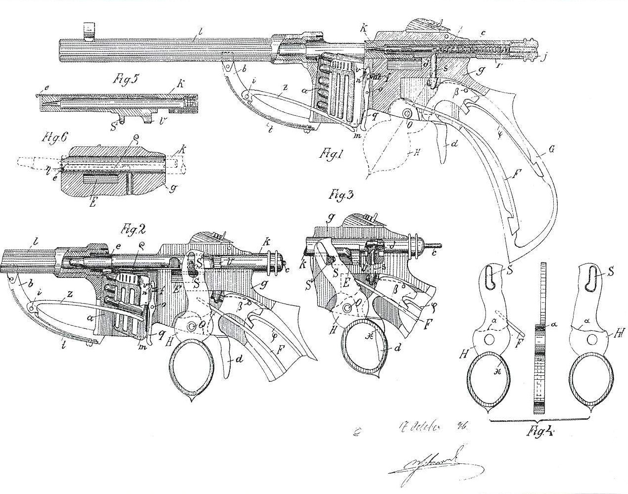 Bittner repeating pistol patent