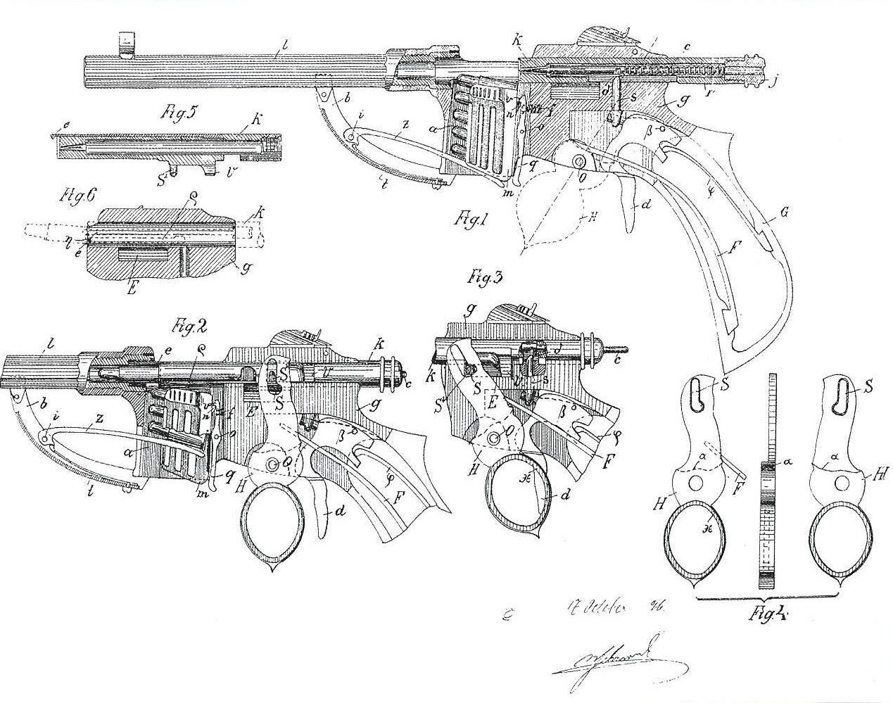 Bittner repeating pistol patent