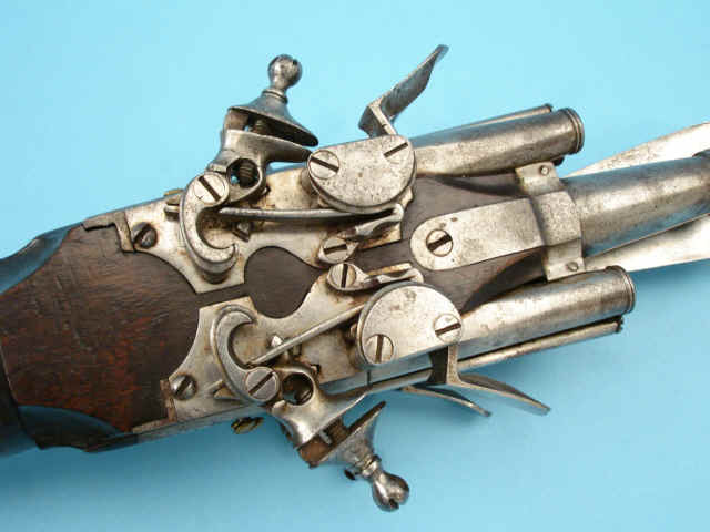 Flintlock Combination Pistol and Pole-Arm