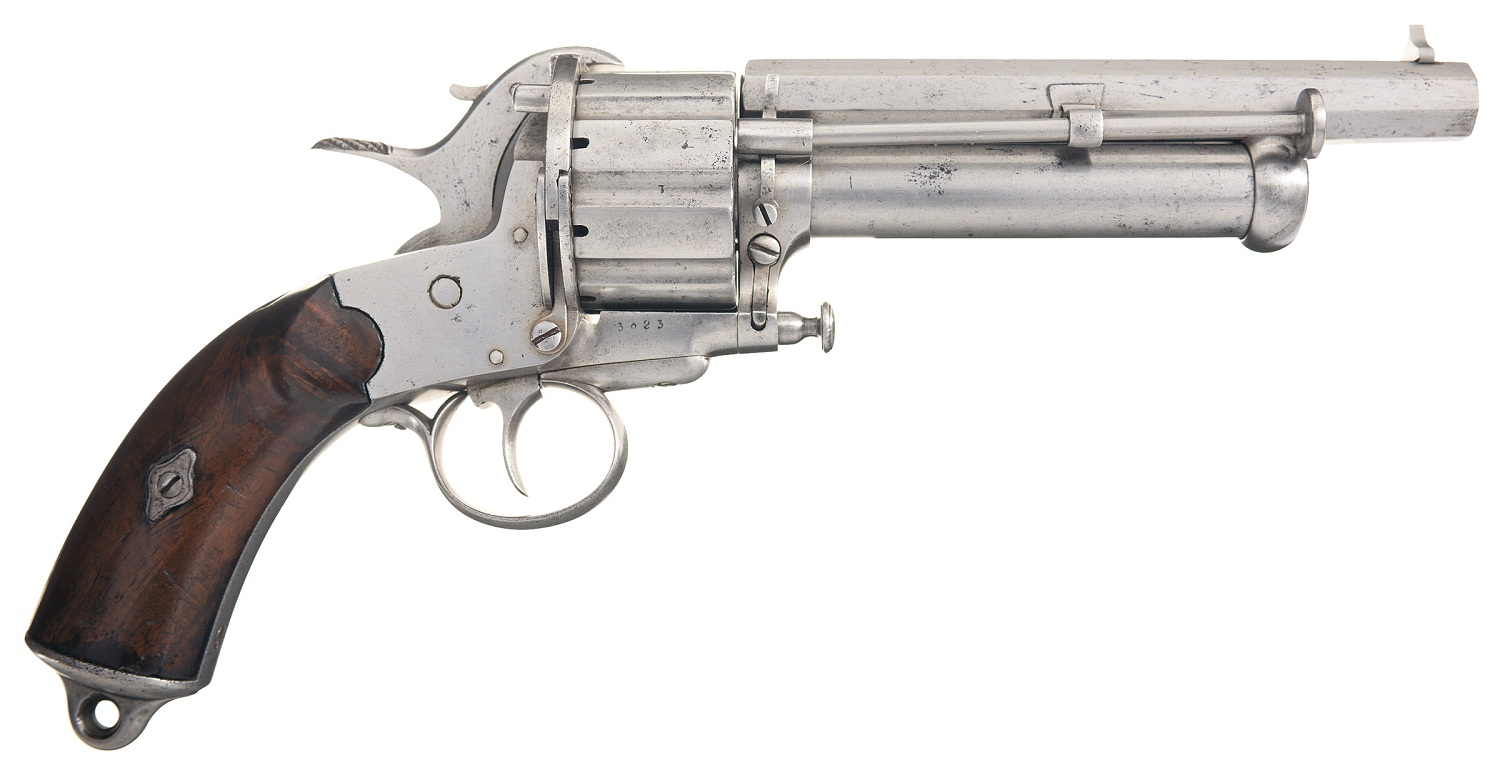 LeMat Brevette Marked Pinfire and Percussion Revolver