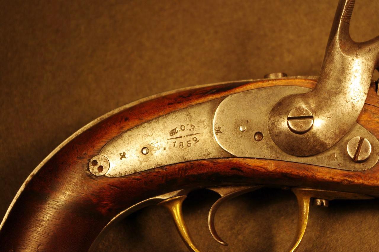 Русский солдатский капсюльный пистолет образца 1848 года