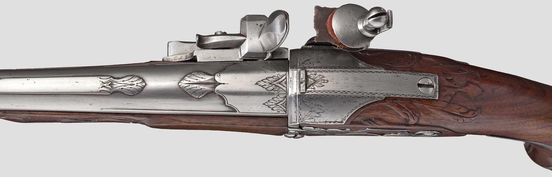 Казнозарядный кремневый пистолет начала 18 века