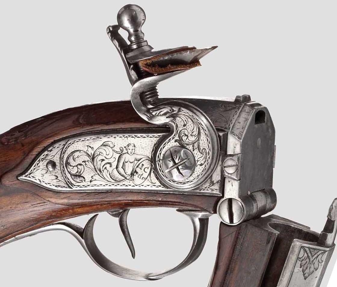 Hinterlader-Steinschlosspistole