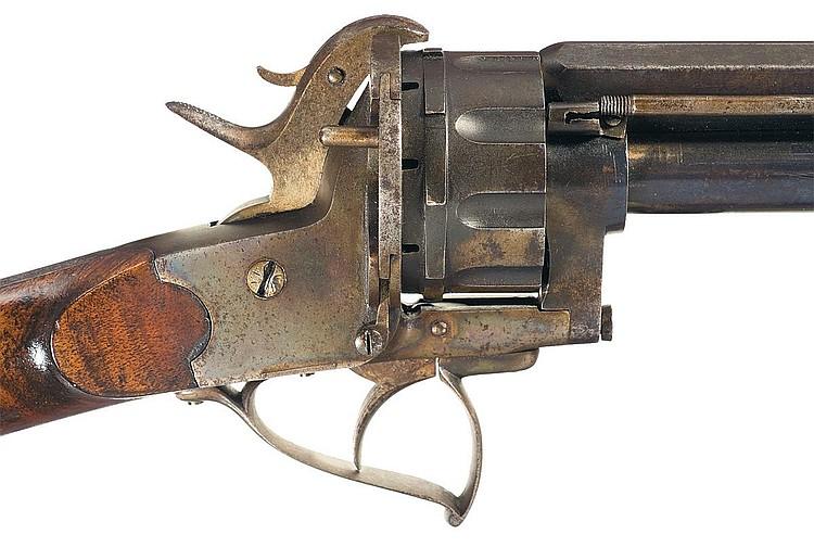 Револьверный карабин Ле Ма под шпилечный патрон