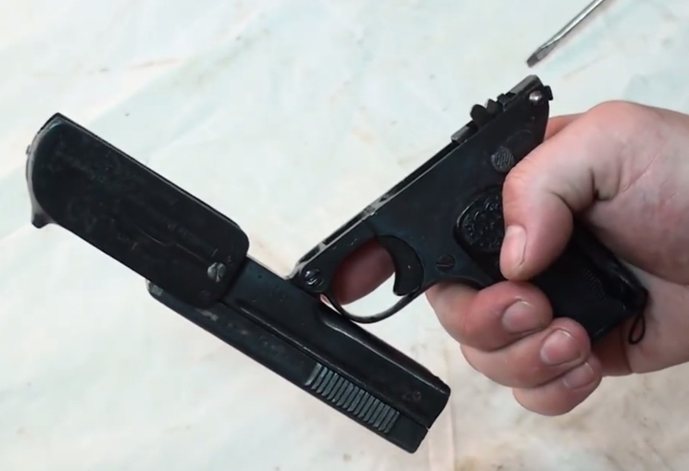 Disassembling 1907 Dreyse Pistol