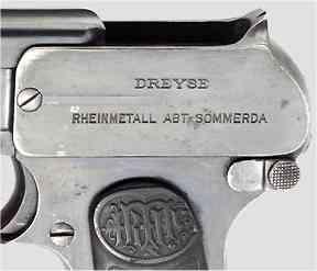 1907 Dreyse Pistol