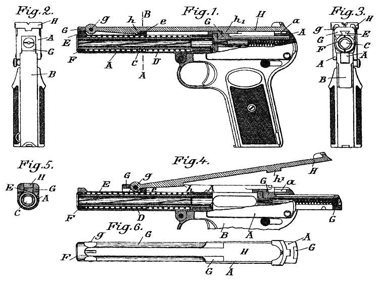 Patent Dreyse 9mm Pistol