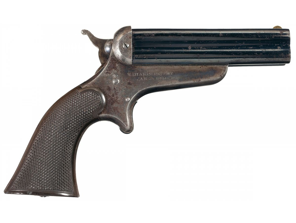 Sharps Model 3D Four Barrel Pepperbox Pistol