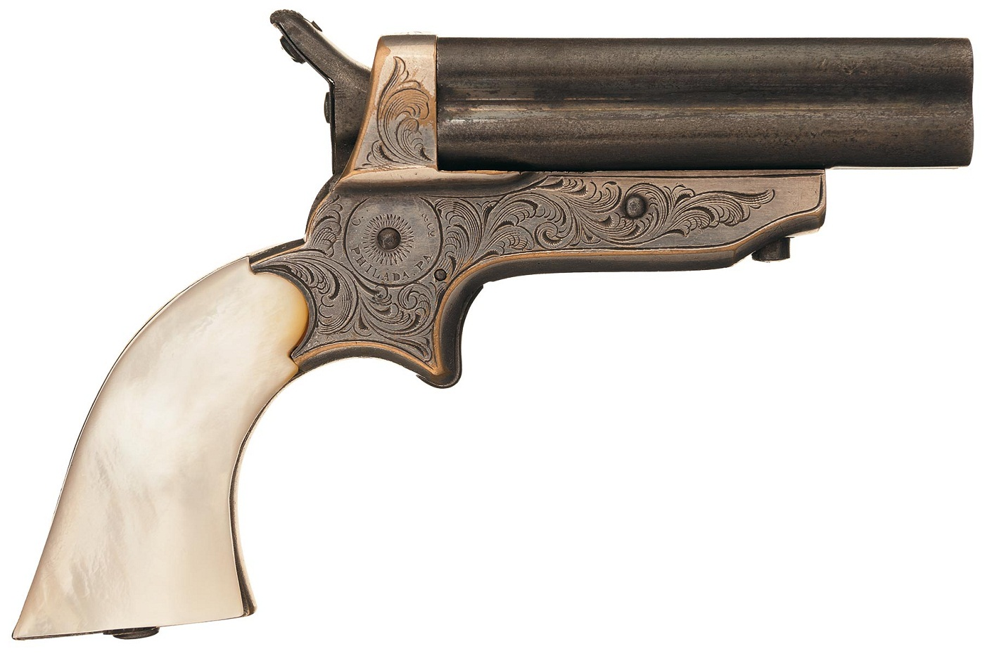 Четырехствольный пистолет Шарпс модели 2B