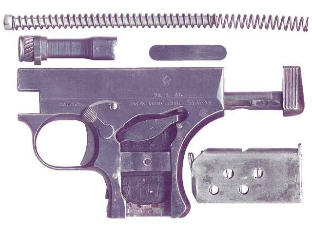 Procedure for disassembling The Mann Pistol