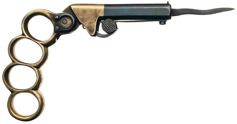 Кастет -пистолет - кинжал