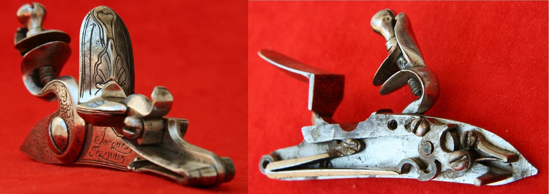 Flintlock pistol made by master Tezenas