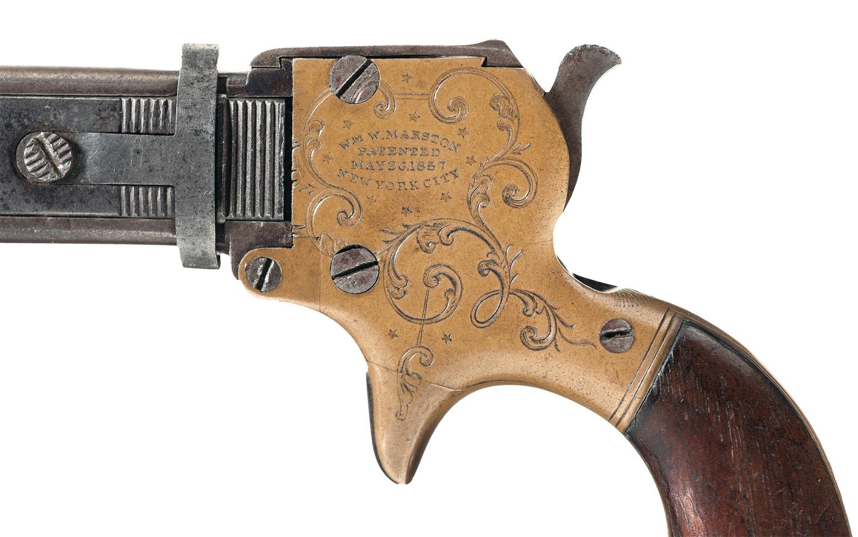 William W. Marston Three Barrel Derringer