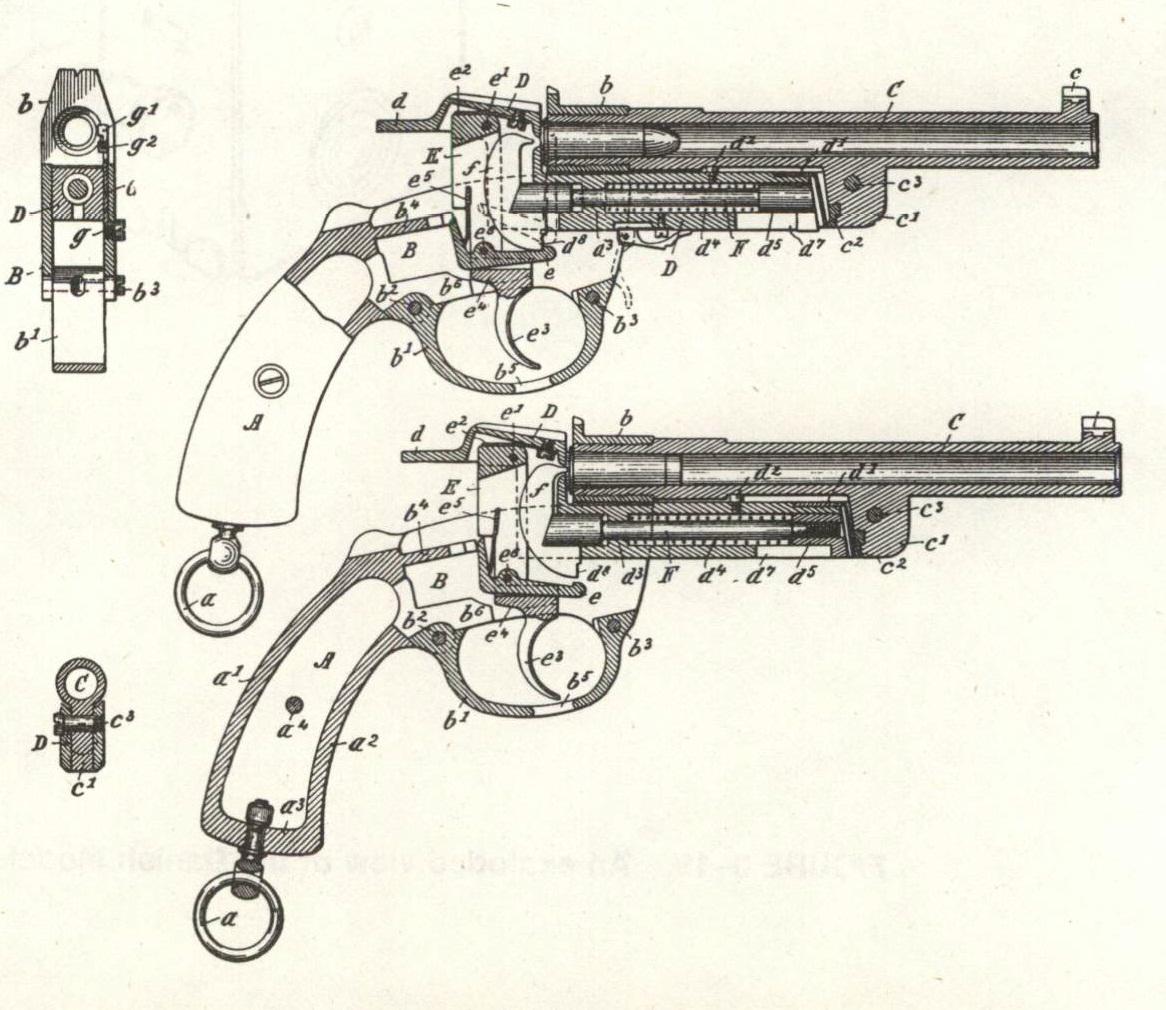 Patent Mauser 1877 Pistole