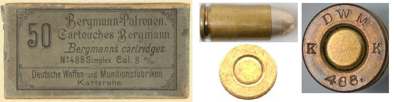 Bergmann Simplex 8mm cartridge