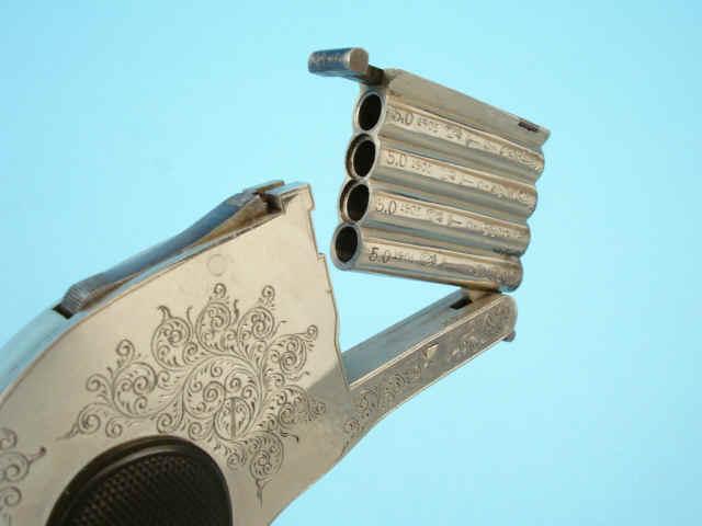Четырехствольный бельгийский пистолет калибра 5 мм