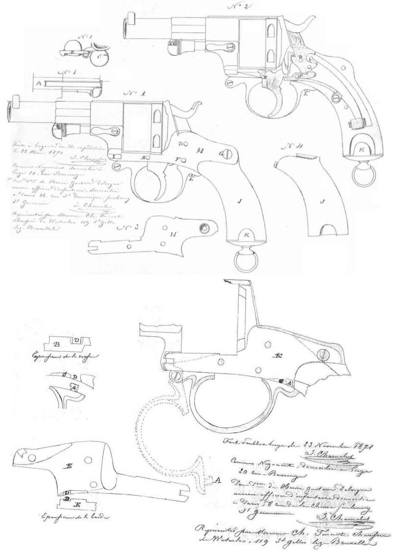 Patent Chamelot - Delvigne revolver Model 1873