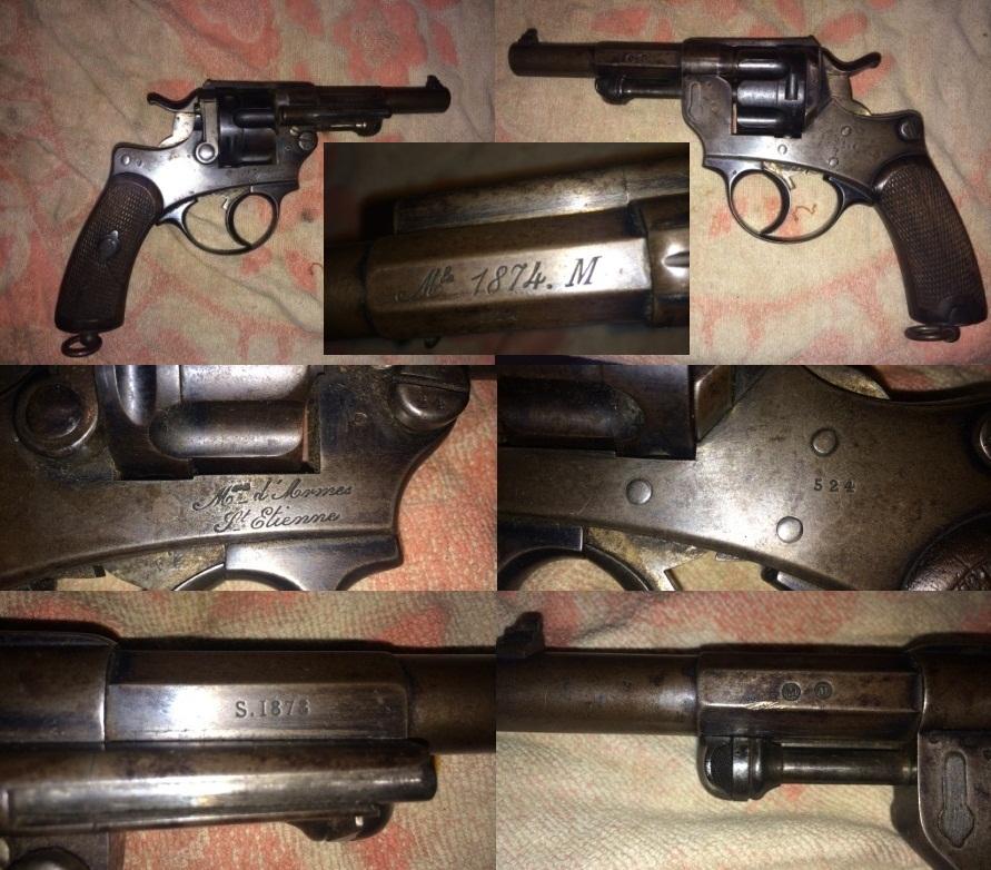 Chamelot - Delvigne revolver Model 1874 marine