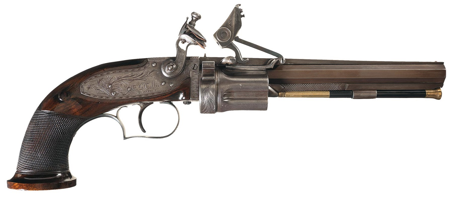 Collier Flintlock Revolver