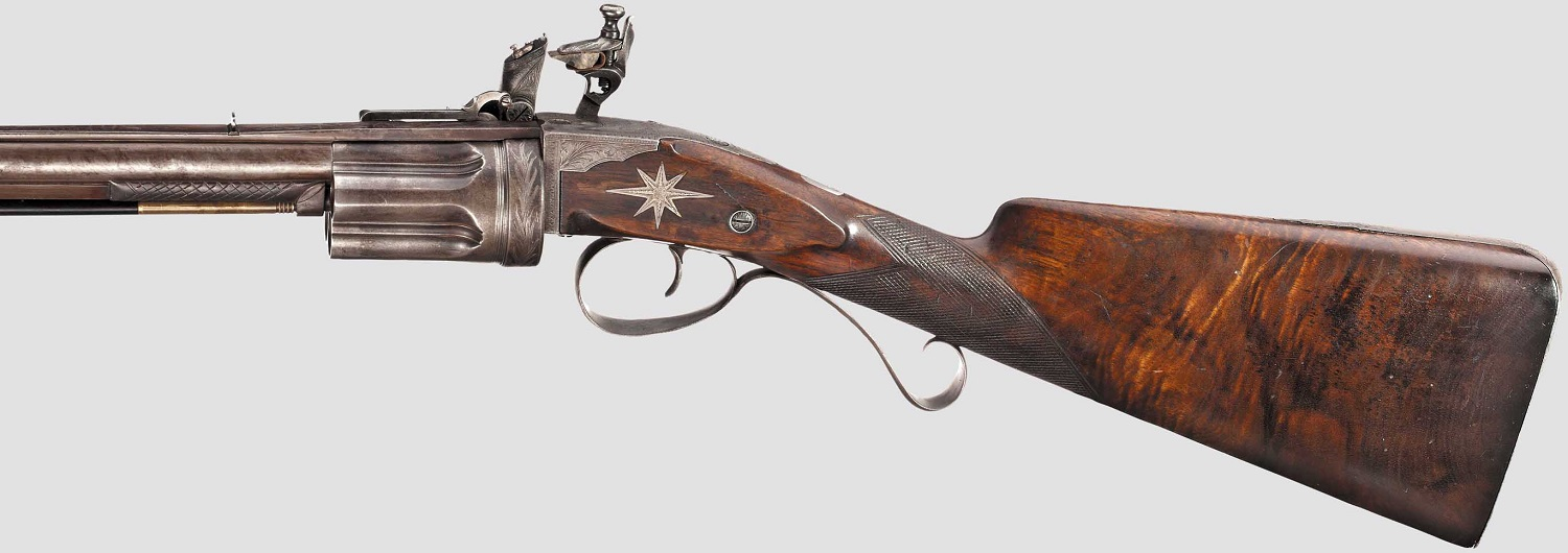 Flintlock revolver rifle, Collier system