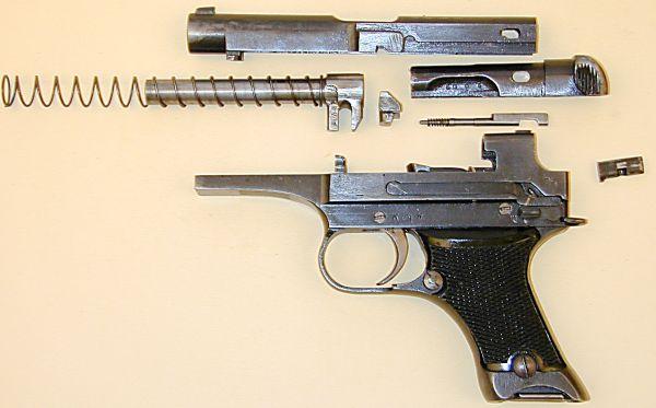 Порядок неполной и полной разборки пистолета Намбу 94