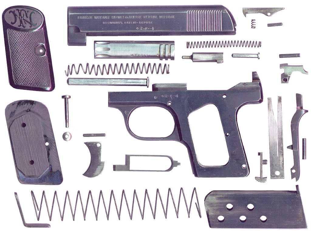 Пистолет Браунинг 1906 года первой разновидности