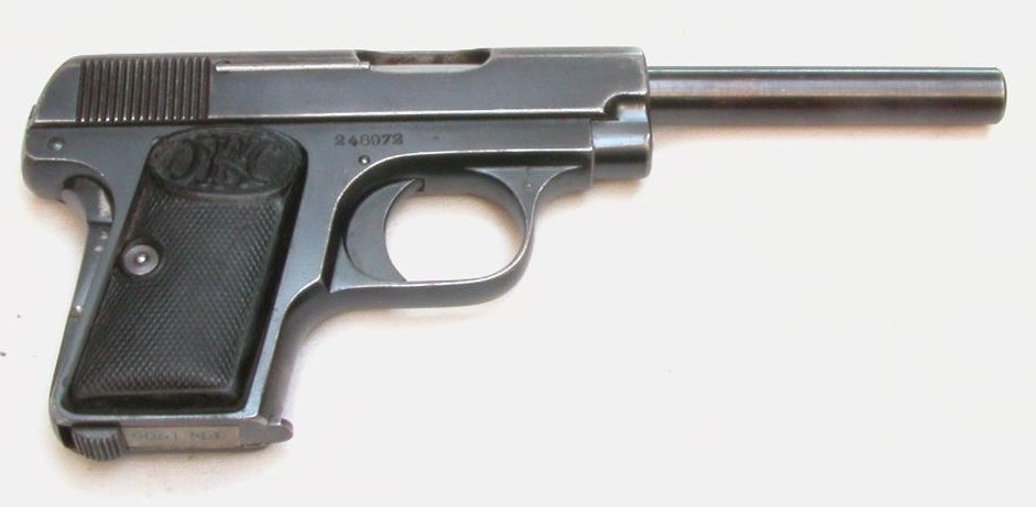 FN Browning M 1906 Pistol variation long barrel
