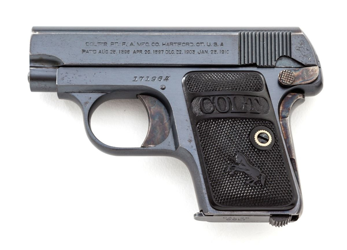 Colt 1908 Vest Pocket with Type II standard grips