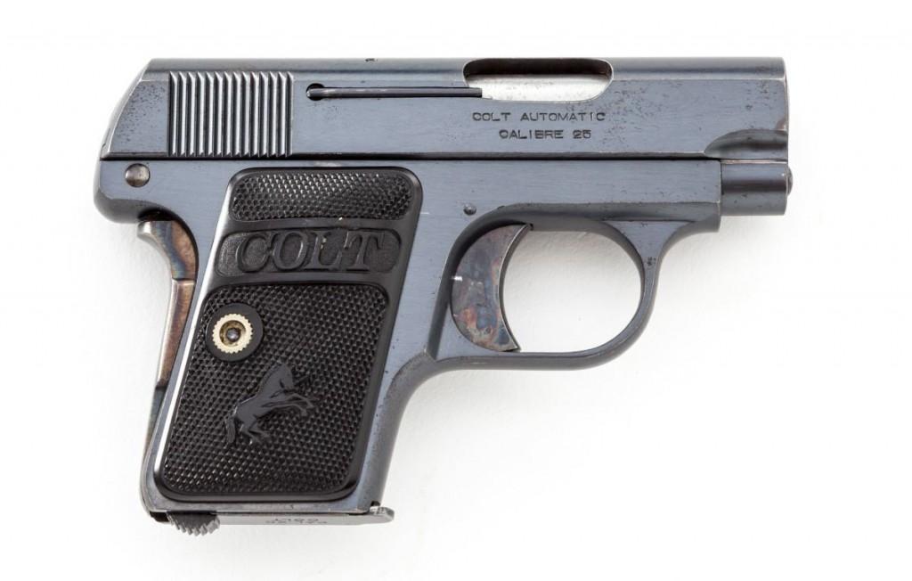 Карманный пистолет кольт модель 1908 года (кликните по изображению, чтобы увидеть фото полного размера)